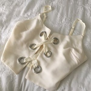 Urban outfitters white crop top